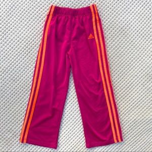 Adidas girls pink athletic track pants size 6